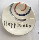 """Happiness"" Ceramic Trinket Dish"