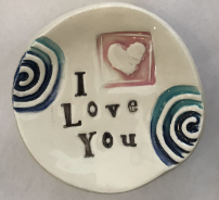 """I Love You"" Ceramic Trinket Dish"