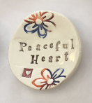 """Peaceful Heart"" Ceramic Trinket Dish"