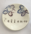 """Patience"" Ceramic Trinket Dish - Flowers"