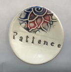 """Patience"" Ceramic Trinket Dish - Lotus"