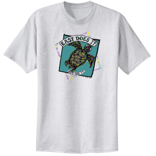 Easy Does It Turtle Tee - Ash