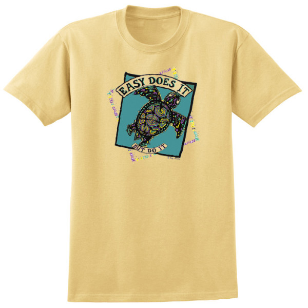 Easy Does It Turtle Tee - Gold