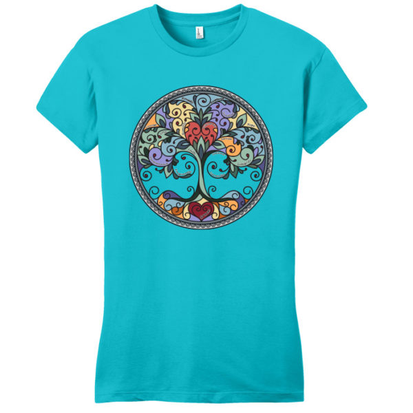 Tree of Life Tee Shirt (Turquoise)