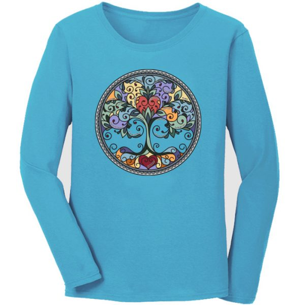 Tree of Life - TURQUOISE Long Sleeve