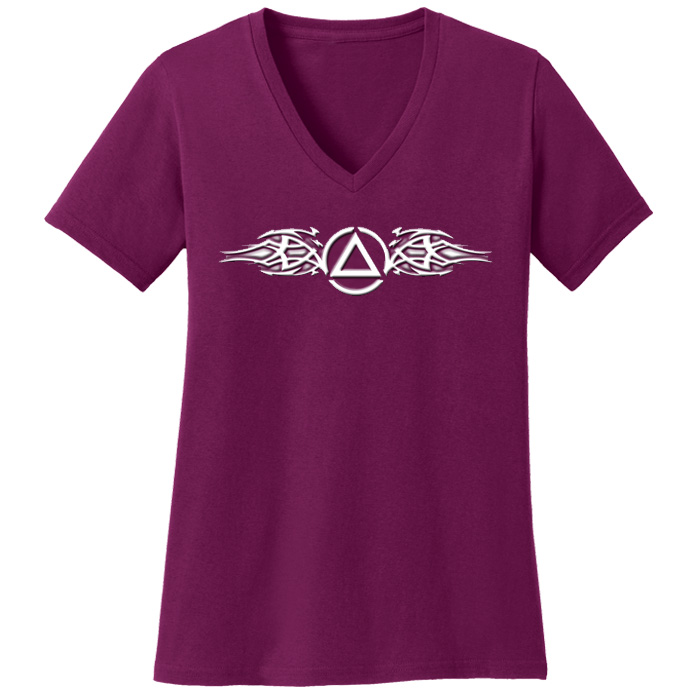 Tribal Tee (Raspberry)