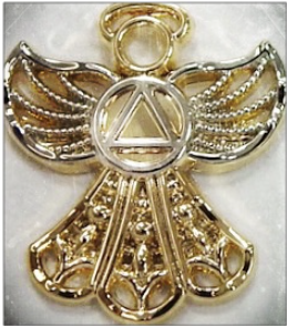 Angel with AA Symbol Pin
