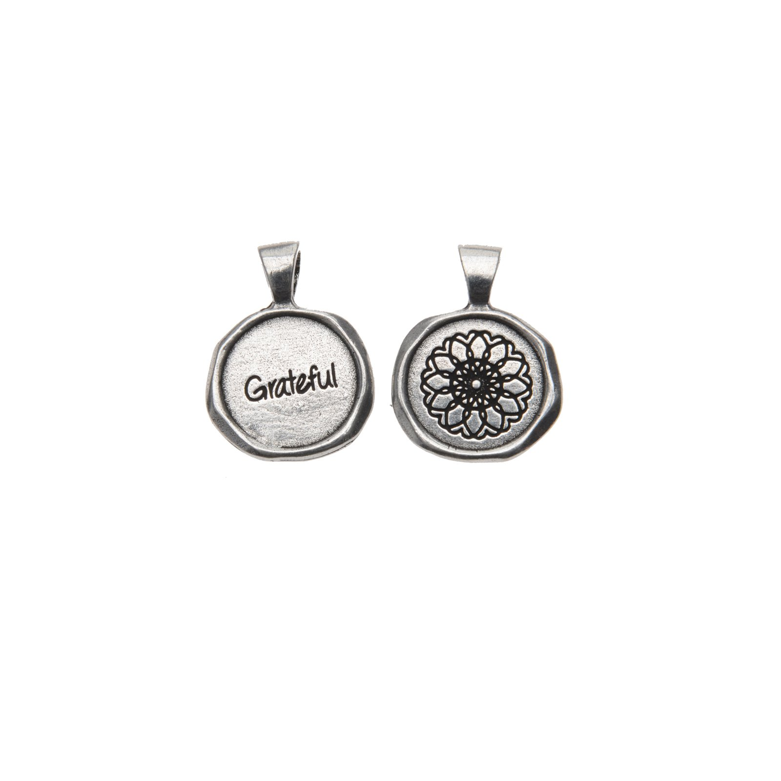 Grateful Wax Seal Charm with Necklace