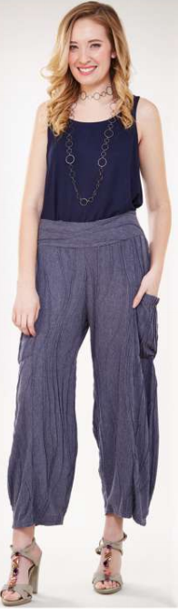 """New Blue"" Stitch Pants with Side Pocket"