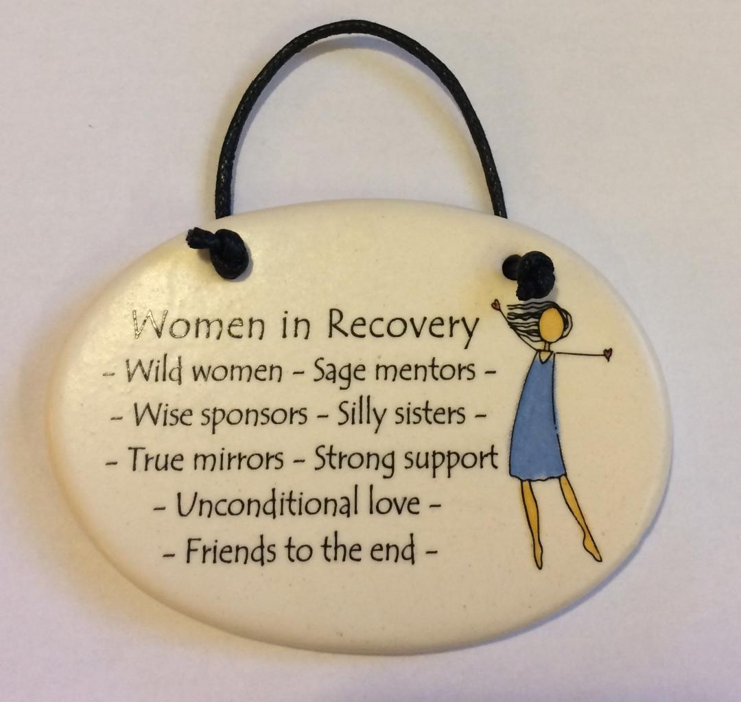 Women in Recovery Small Plaque (Woman)