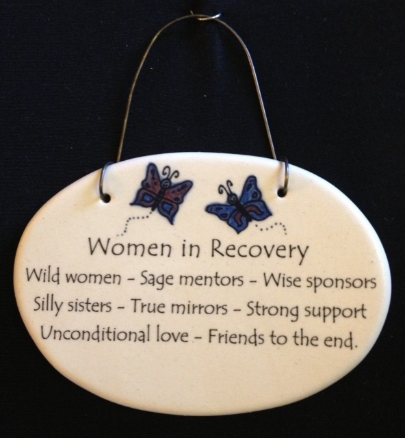 Women in Recovery with Butterflies Plaque