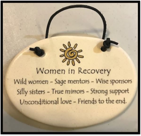 Women in Recovery Plaque (Sun)