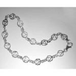 Continuous AA Symbol Anklet 10""