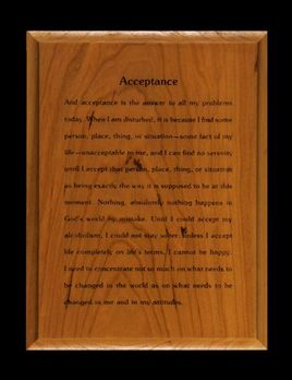 6x8 Acceptance Wall Plaque