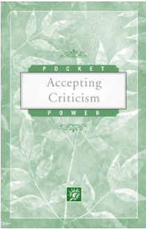 Pocket Power: Accepting Criticism