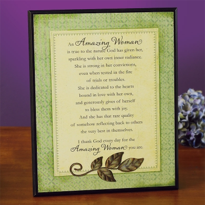 An Amazing Woman Plaque