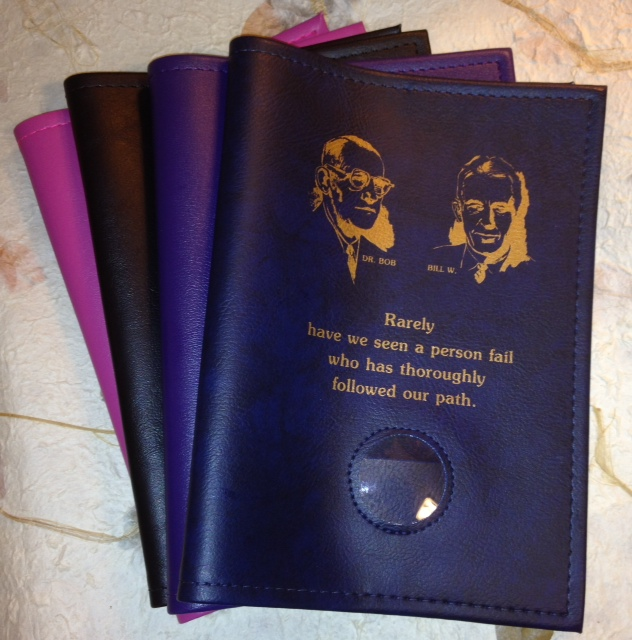 Big Book Cover with Bill & Bob and Medallion holder