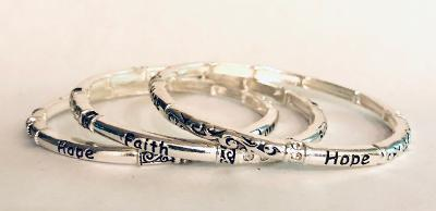 Tri Bangle Set - Faith & Hope