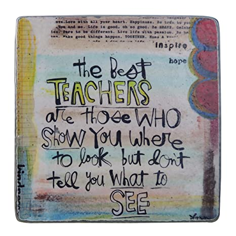 Best Teachers Painted Pewter Plaque