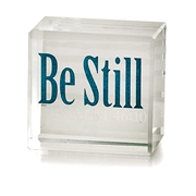 Be Still Glass Cube