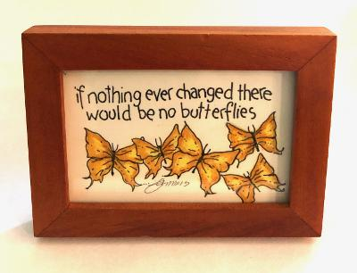 If Nothing Changed Butterfly Mini Print