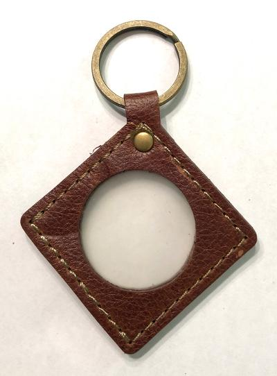 Diamond Shape Leather Key Fob