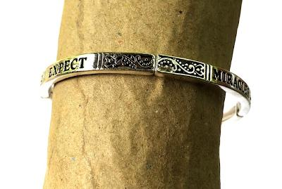 Expect Miracles Stretch Bangle