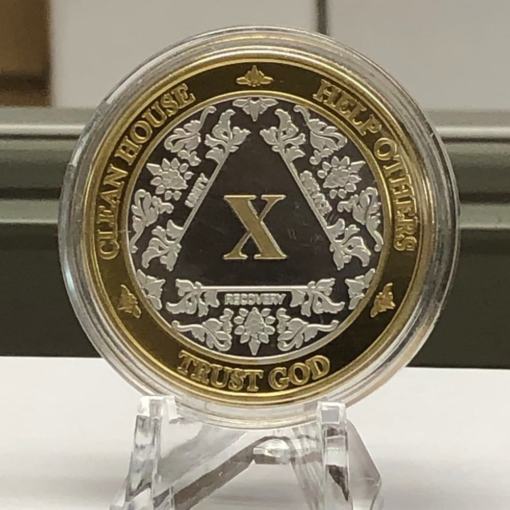 AA Etched Bi Plate Medallion