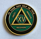 FREE SHIPPING!! AA Tri-Plate Anniversary Medallion (Black&Teal)