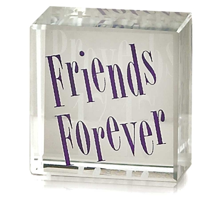 Friends Forever Glass Cube