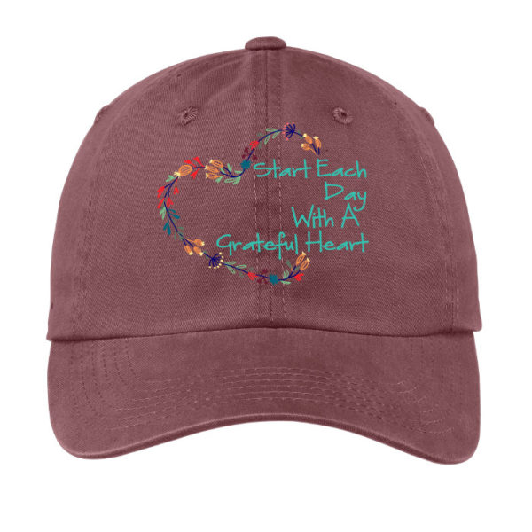 Grateful Heart Hat - Raspberry