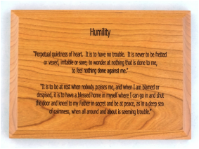 Humility Wall Plaque