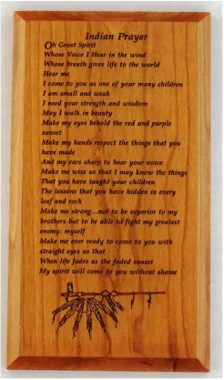 5x9 Indian Prayer Wall Plaque