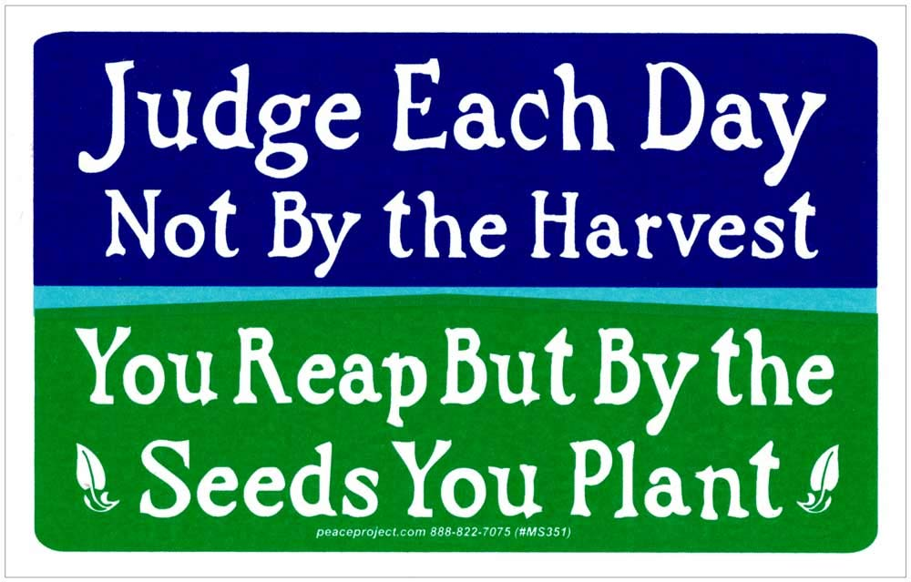Judge Each Day Sticker