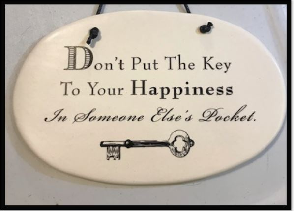 Key to Happiness Wall Plaque (Large)