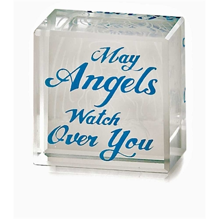 May Angels Glass Cube