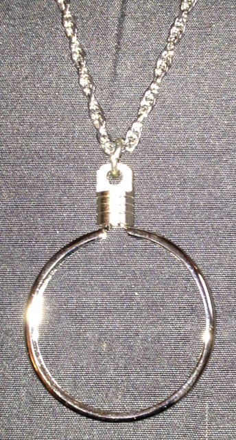 Medallion Necklace Bezel (Silver)