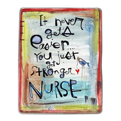 Nurse Painted Pewter Plaque