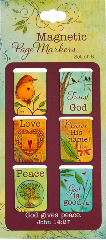 Peaceful Thoughts Magnetic Bookmarks