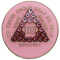FREE SHIPPING! AA Pink Crystallized Transition Medallion