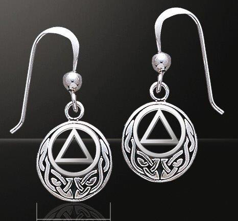 Celtic AA Symbol Earrings