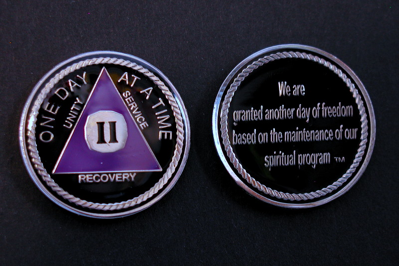 LnL Tri Plate Medallion Purple & Silver