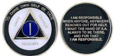 NEW! AA Responsibility Year Tri-plate Medallion