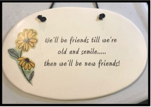 New and Old Friends Wall Plaque (Large)