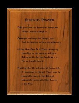 6x8 Serenity Prayer Wall Plaque