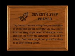 5x7 Seventh Step Prayer Wall Plaque