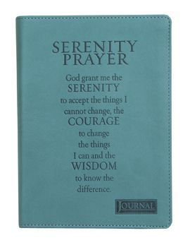 Serenity Prayer Leather Journal