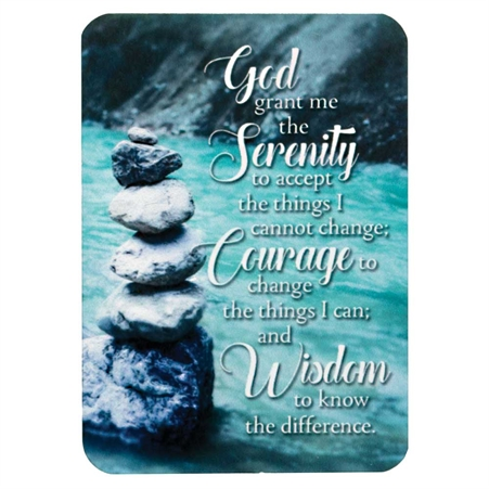 Serenity Prayer Aluminum Wallet Card