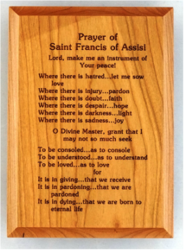 5x7 Prayer of St. Francis Wall Plaque