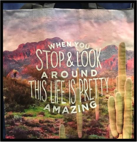 Stop and Look Around Tote Bag